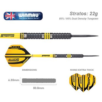 Winmau Winmau Stratos dartpijlen Dual Core 85% - 95% Tungsten