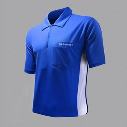 Target Target Coolplay Hybrid Dartsshirt Blue White
