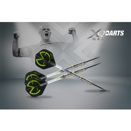 XQdartsMAX XQDartsMax Michael van Gerwen Green Demolisher 70% Tungsten 23 gram
