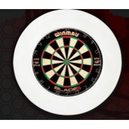 Dartsbord Surround Ring Plain Wit