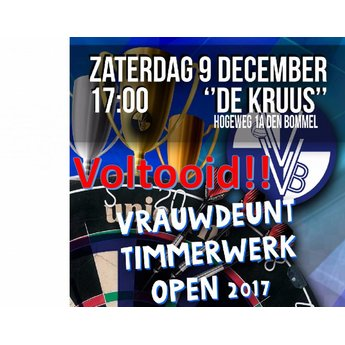 Dartshop Kattestaart Vrauwdeunt Timmerwerken open 2017 darts