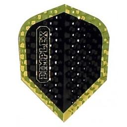 Dartshop Kattestaart Dimplex Metallic zwart/goud std