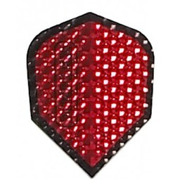 Dartshop Kattestaart Dimplex Metallic rood / zwart std