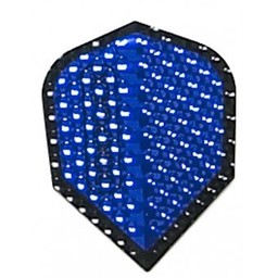 Dartshop Kattestaart Dimplex Metallic blauw / zwart std