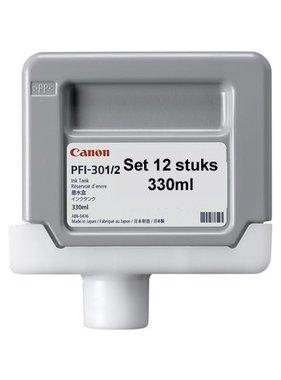 Canon Set 12 inkttanks 330 ml PFI-301 / PFI-302