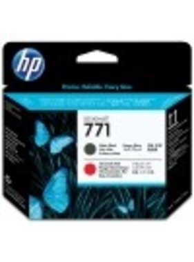 HP 771 printkop mat zwart en chromatic red
