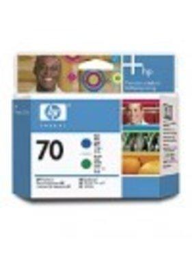 HP 70 blauwe en groene printkop