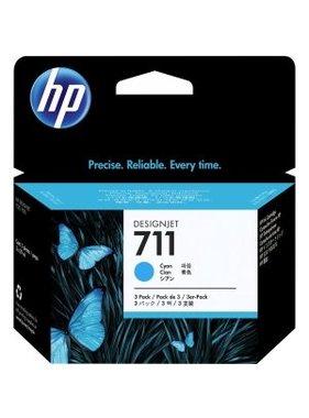 HP 711 3-pack 29-ml Cyan Ink Cartridges