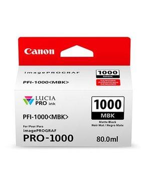 Canon PFI-1000MBK Matzwart 80ml