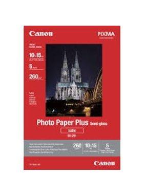 Canon Photo Paper Plus SG-201, 100 mm x 150 mm, 260 grs/m², 5 vel