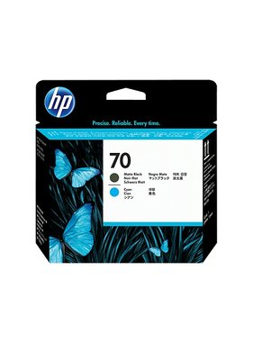 HP 70 matzwarte en cyaan printkop