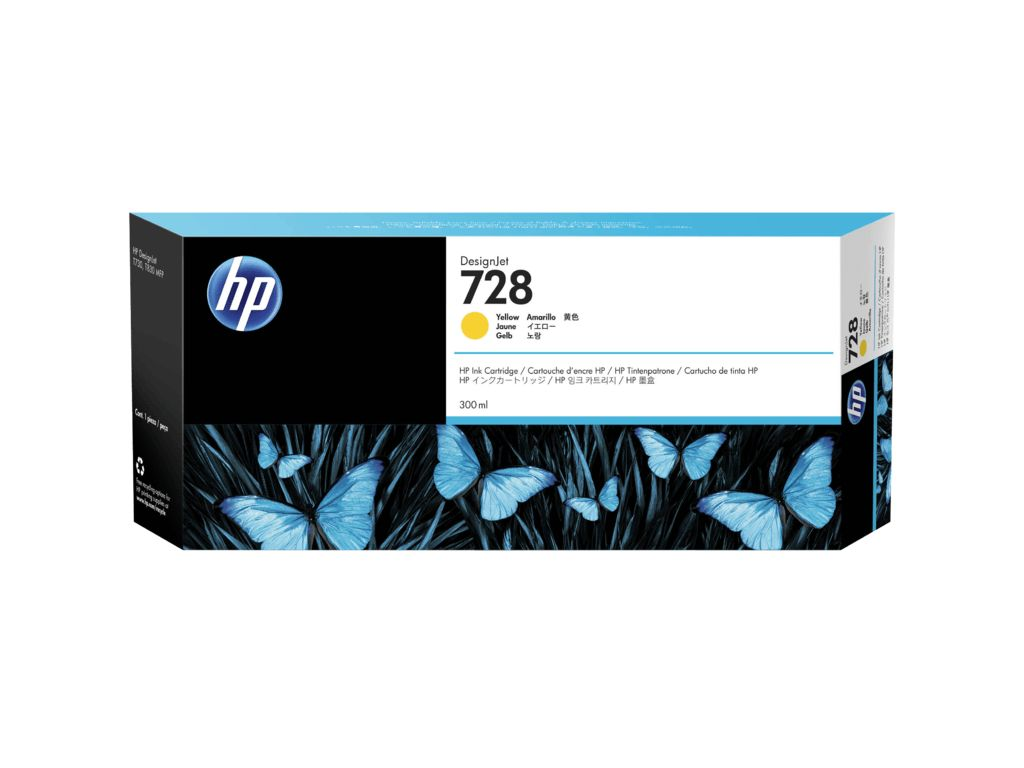 HP HP 728 300-ml geel inkt Cartridge