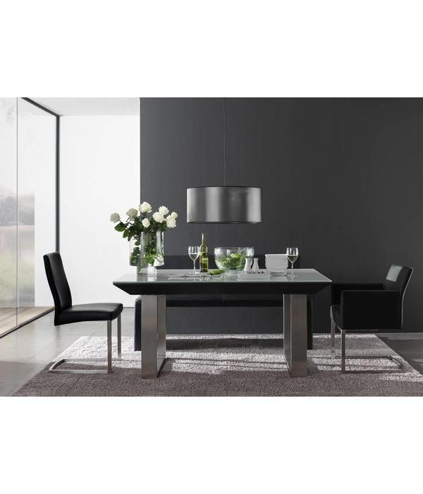 esstisch schwarz wei perfect esstisch stahl glsern modern glamour stil schwarz wei albano with. Black Bedroom Furniture Sets. Home Design Ideas
