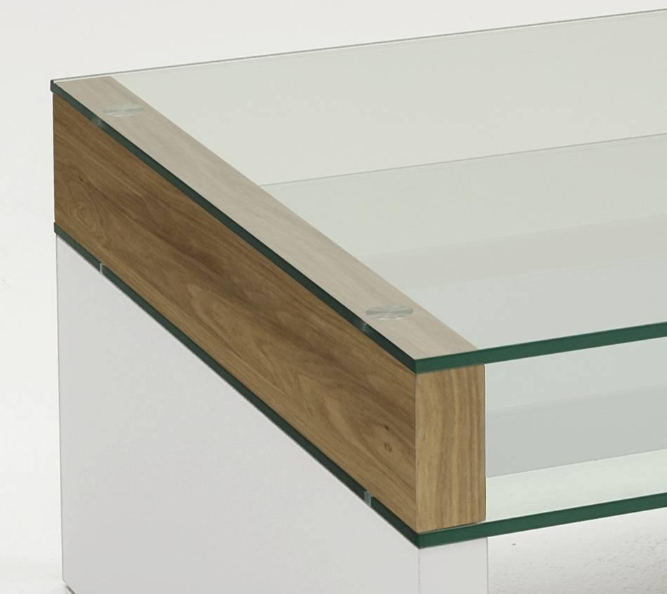 Nauhuricom  Couchtisch Wildeiche Weiß ~ Neuesten Design
