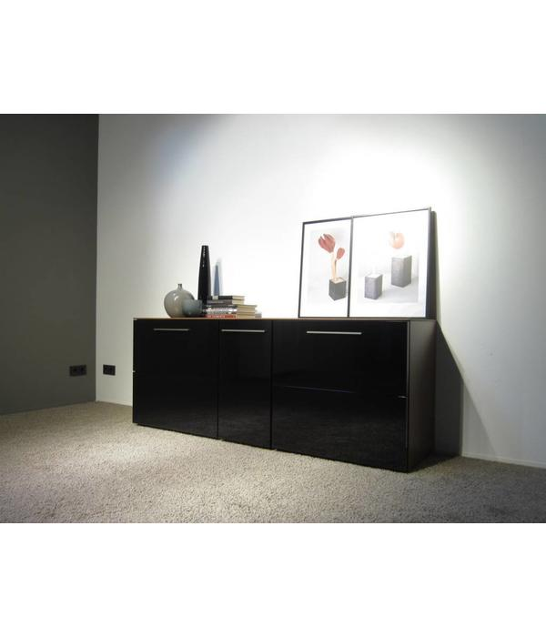 holtkamp sideboard nussbaum schwarz restposten hochwertige m bel lagerware. Black Bedroom Furniture Sets. Home Design Ideas