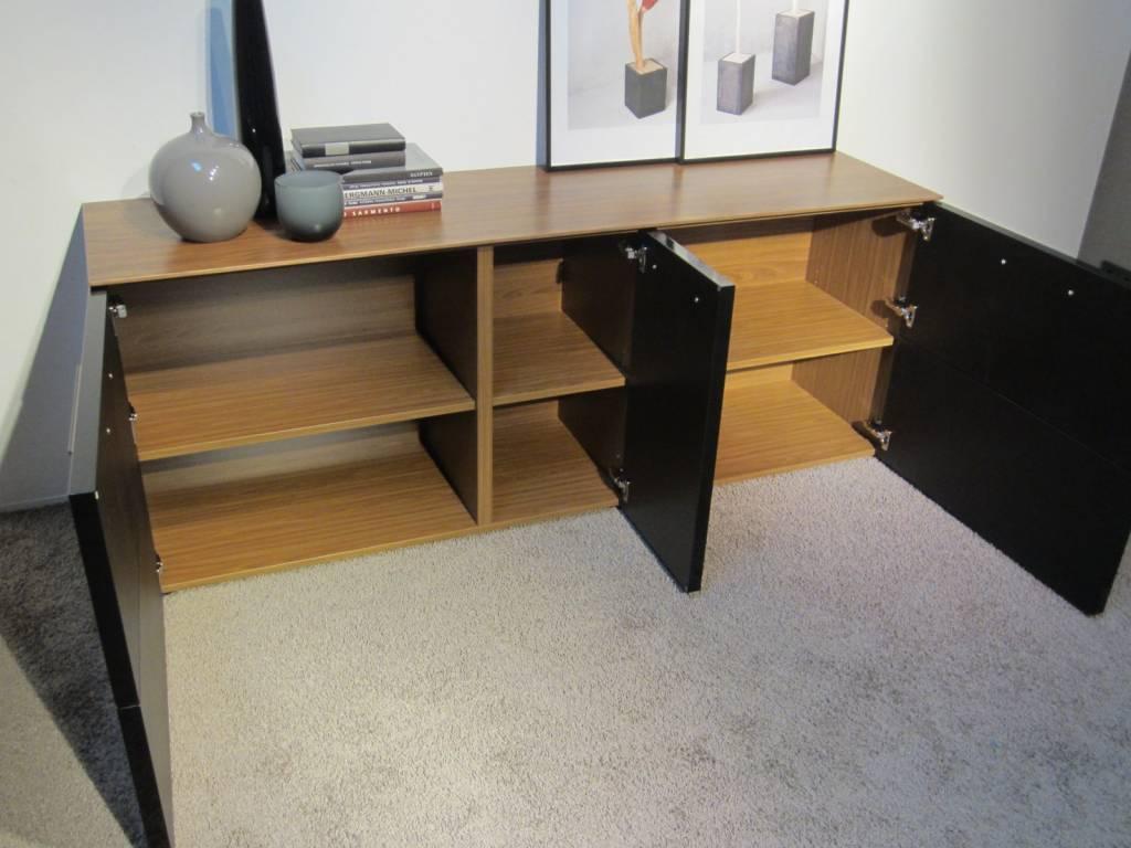 holtkamp sideboard nussbaum schwarz restposten moebel. Black Bedroom Furniture Sets. Home Design Ideas