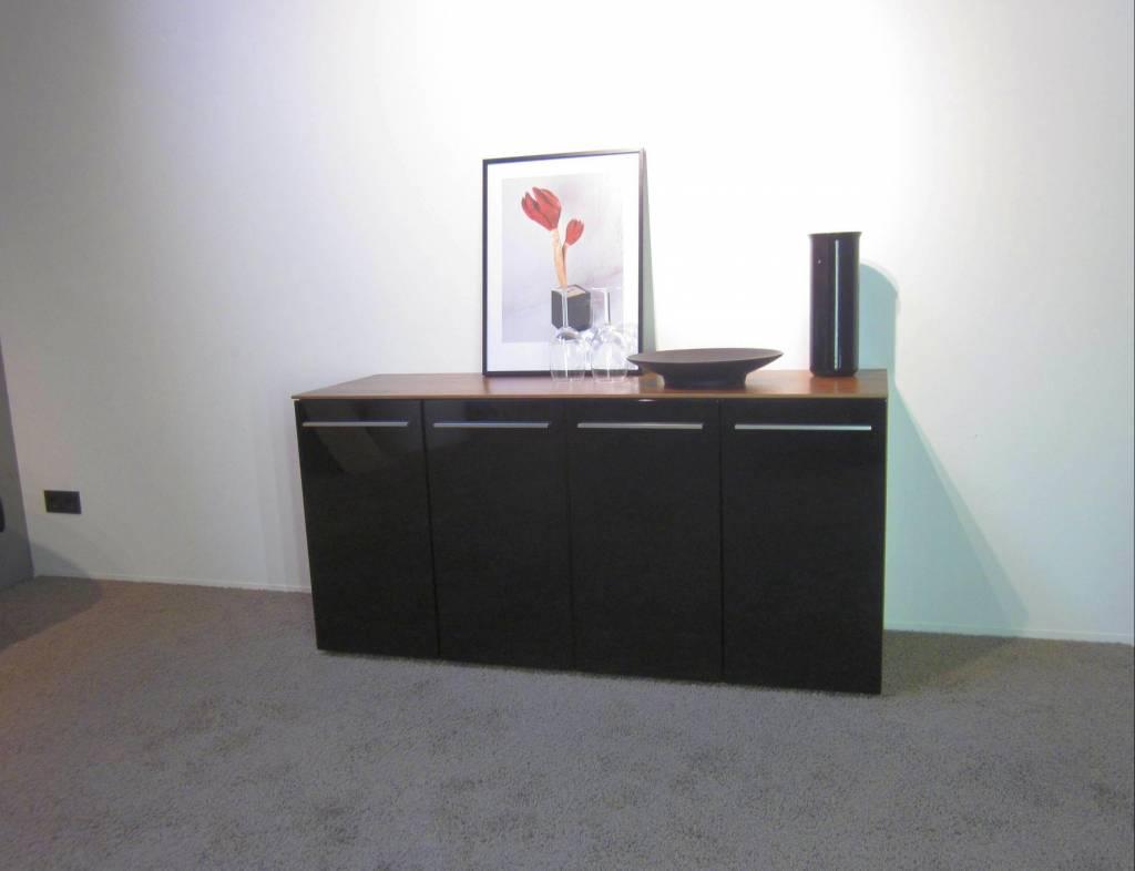 holtkamp sideboard nussbaum schwarz restposten hochwertige m bel lagerware. Black Bedroom Furniture Sets. Home Design Ideas