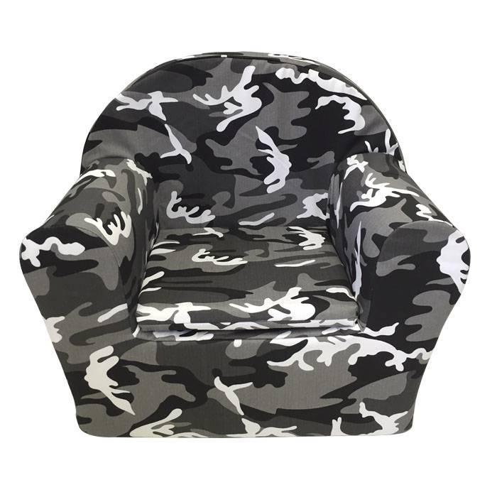 Peuterstoeltje Peuterstoel Camouflage Grijs met naam