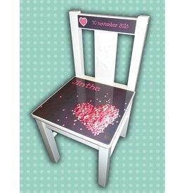 Kinderstoel van geboortekaartje