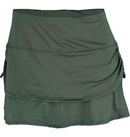 Pindot Rouched Skirt Olijf