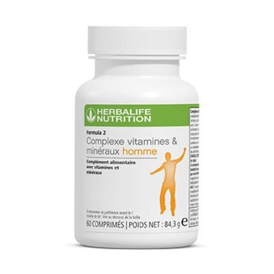 NEW F2 Complexe Vitamines & Minéraux Homme