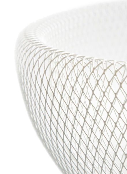 Fundamental Nest Bowl white - Powder coated steel mesh fruit bowl or lampshade