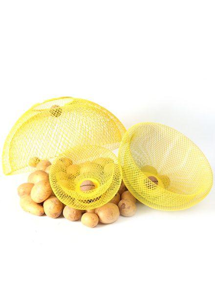 Fundamental Nest Bowl Gelb - Obstschale/Lampenschirm aus pulverbeschichtetem Stahlgeflecht
