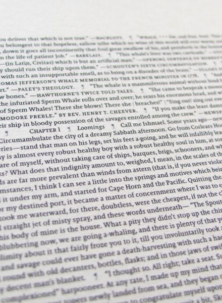 All The World´s ... Moby Dick- an entire book printed on a single poster