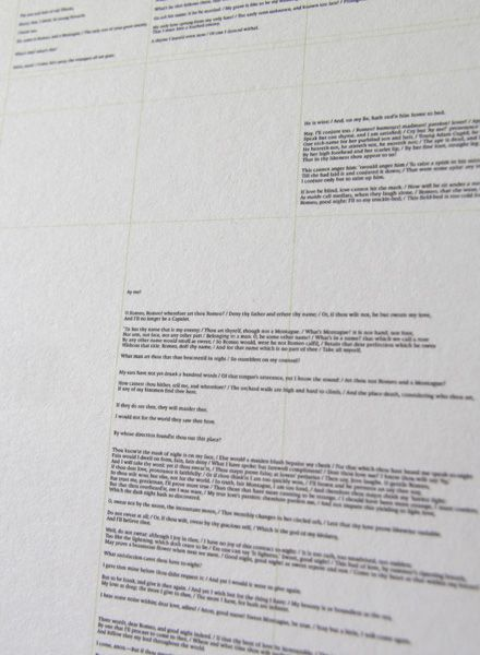All The World´s ... Romeo and Juliet - an entire book printed on a single poster