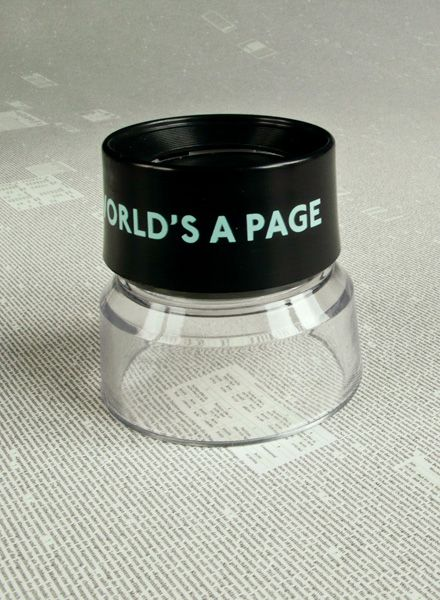 """All The World´s ... Magnifying Glass - to read the """"All the world is page"""" poster"""