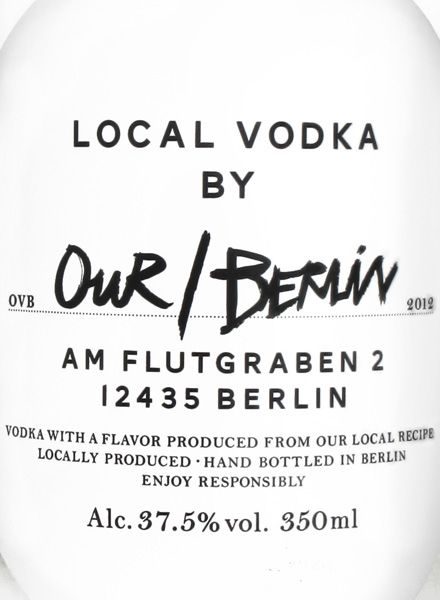 "Our Vodka Vodka ""Our/Berlin"" - Mild and fresh taste with a smooth, fruity character."