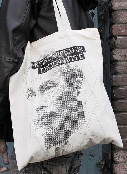 "Diafragmatik Gym bag ""Tanzen bitte"" with graphic screen print"