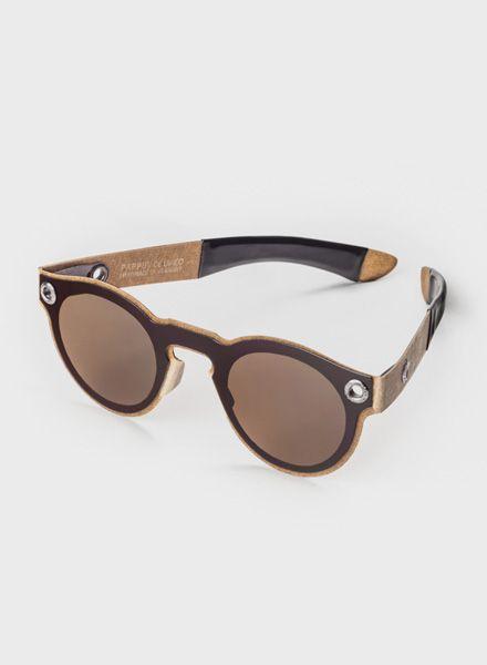 PAPPUP Papp UV Poet - Sonnenbrille aus  industriellen Holzresten mit UV 400-Polarisationsfilter