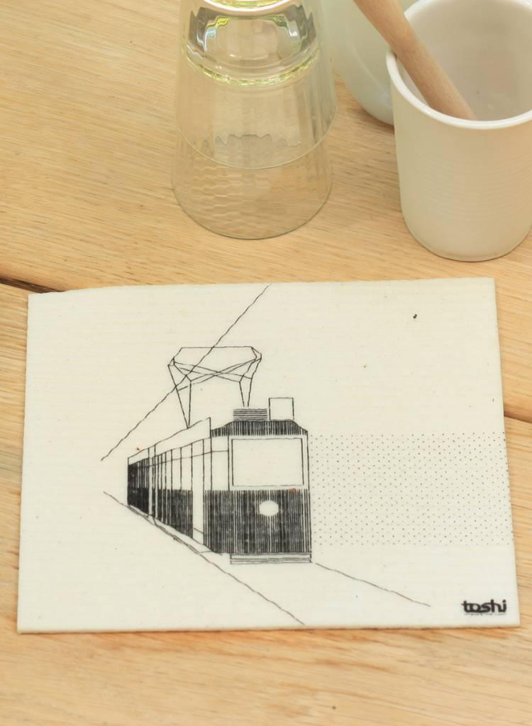 "Toshi 3er-Set Schwammtücher ""Blitz"" - 100% kompostierbar"