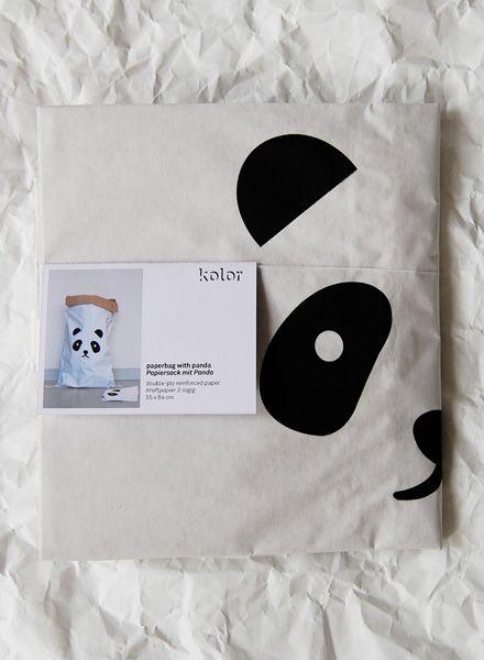 """Kolor Paper bag """"Panda"""" - Durable bag for storage made of reinforced paper"""