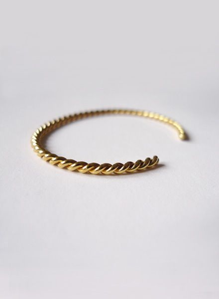 "Felicious Bracelet ""Twisted"" - Two times diamond knurled and slightly bendable"
