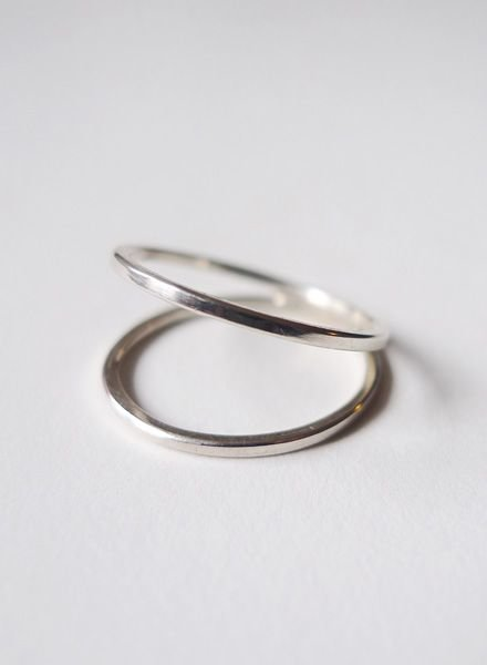 "Felicious Ring ""Hoops Silver"""