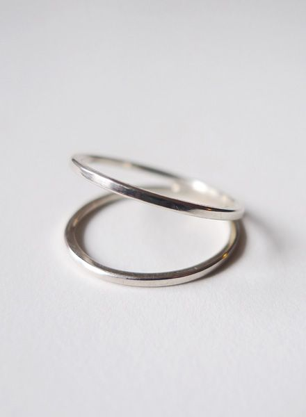 """Felicious Fingerring """"Hoops Silver"""" - 925 Silver with a polished surface"""