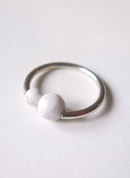 "Felicious Fingerring ""Balls Silver"" - 925 silver ring with a polished surface"