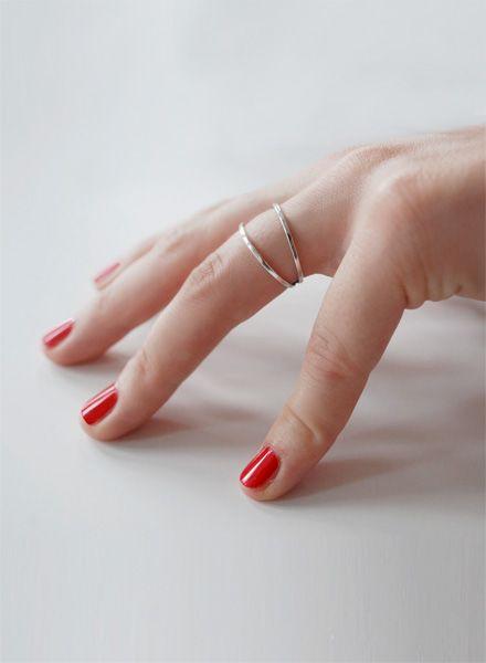 """Felicious Fingerring """"Hoops Silber"""" - 925er Silber mit leicht polierter Oberfläche"""