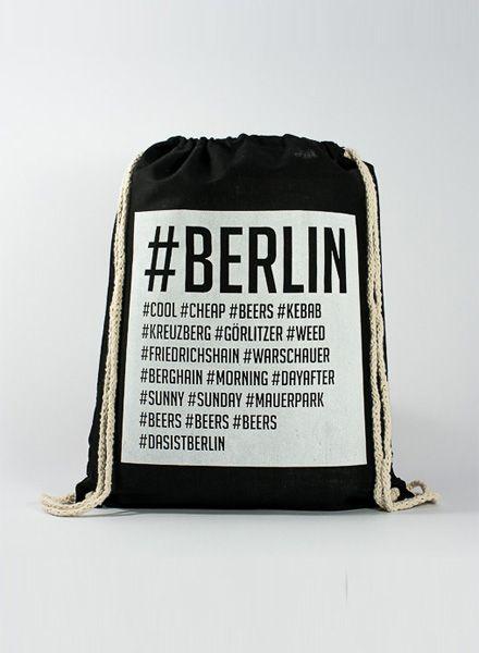 """Officine Berlinesi Turnbeutel """"Gym bag Hashtag"""" mit Siebdruck"""