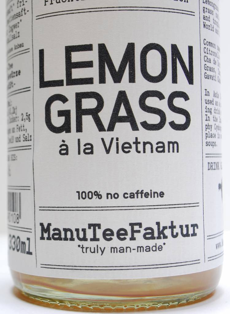 ManuTeeFaktur Ice tea - Lemongrass-tea made of ingredientes from controlled biological cultivation