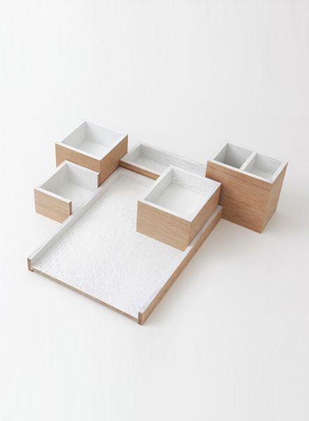 Bartmann Berlin Organizer-Set for your desk made of massive wood