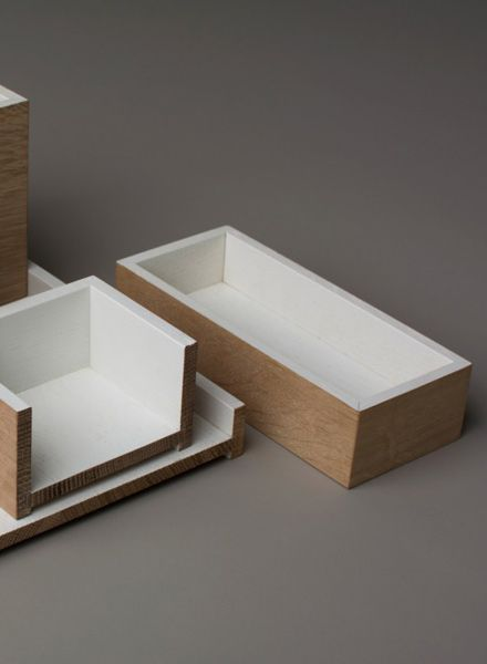 Bartmann Berlin Organizer-Set for your desk made of massive wood