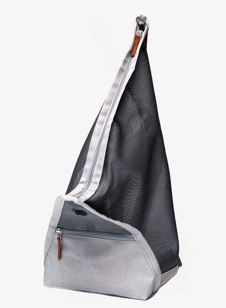 """Hänska Rucksack """"Catamaran Mesh"""" handgefertigt aus wasserfestem Segelstoff und Netzgewebe"""