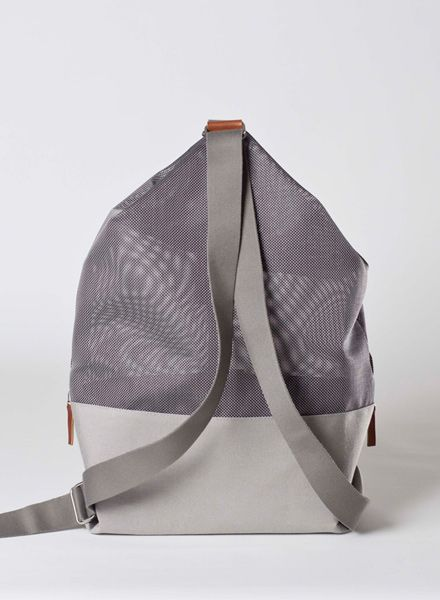 "Hänska Backpack ""Lucid Mesh Grey"" made of waterproofed fabric and Mesh"