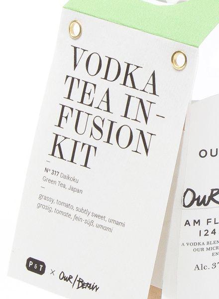 "Paper & Tea Vodka Tea Infusion Kit ""Daikoku"" - Infusing vodka with tea"