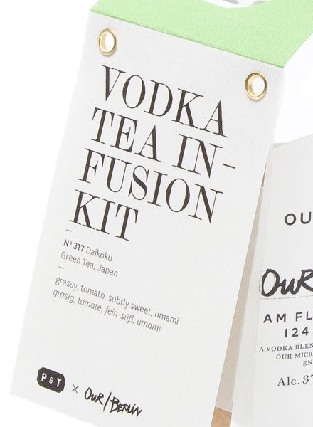 """Paper & Tea Vodka Tea Infusion Kit """"Daikoku"""" - Mit Tee aromatisierter Vodka"""