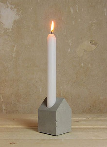 Lalupo Betonbude I Kerzenhalter aus Beton