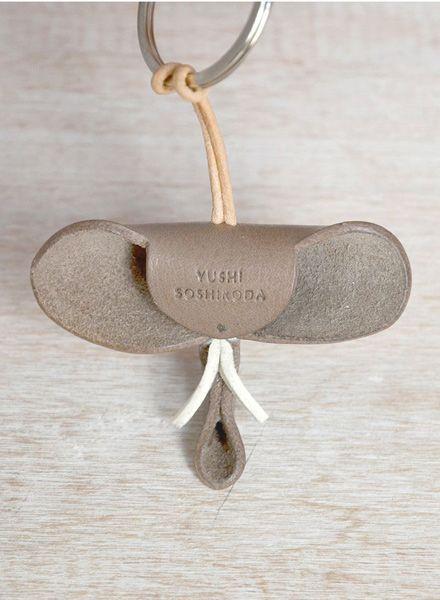 "Yushi Soshiroda Schlüsselanhänger ""Tier"" aus echtem Leder - Handgefertigt"